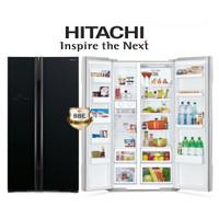 Kulkas Hitachi R-S80PGD2 GBK 605 L Side By Side