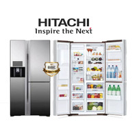 Kulkas Hitachi R-M80GPGD2X Mirror Black