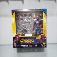 mainan action figure mafex iron spider spiderman recast