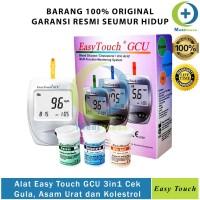 Alat Easy Touch GCU Cek Gula Darah Asam Urat Kolestrol EasyTouch