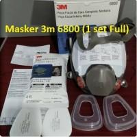 3M Masker Reusable full Face Mask Respirator 6800
