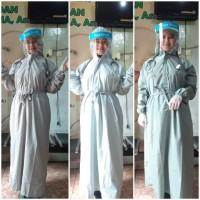 Gaun bedah / baju operasi /APD reusable hazmat parasut waterproof