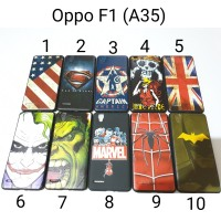 Case Hitam Superhero Oppo F1 A35 / Soft Case Oppo F1f (A35)