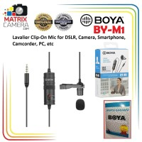 BOYA BY-M1 Clip-on Microphone for DSLR Camera Smartphone Camcorder PC