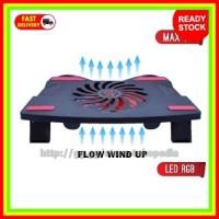 Meja Laptop Universal Stand Holder Fan PS4 USB Vacuum Kipas Cooler Pad