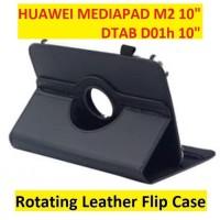 "Huawei Mediapad M2 10 Inch Dtab D01h 10"" Flip Cover Case Casing Kesing - Hitam"