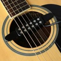 Pickup Spull Mic Gitar Akustik Tempel - Hitam