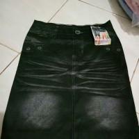rok leging motif jeans import
