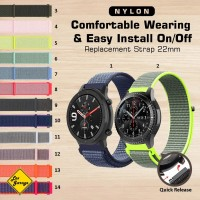 Strap Amazfit GTR 47mm Stratos Galaxy Watch 46mm Gear S3 - 22mm Nylon