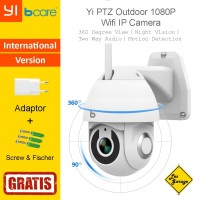 CCTV Wifi Outdoor Yi PTZ IP Camera 1080p International Version