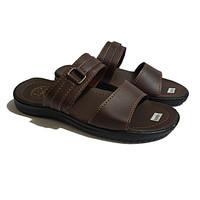 STEXEL GIORDANO Brown Sandal Casual Double Strap Sole Pressed Premium