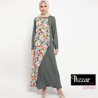 AZZAR Britt Maxi Dress in White & Grey Print