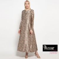AZZAR Puji Maxi Dress in Brown