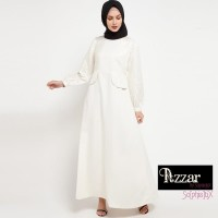 AZZAR Isabella Maxi Dress in Off White