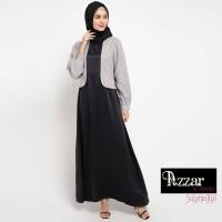 AZZAR Lita Maxi Dress in Checkered Grey