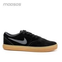 Sepatu Nike Pria SB Check Solarsoft Sneakers Black Gum Original