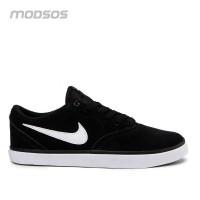 Sepatu Nike Pria SB Check Solarsoft Sneakers Black Original