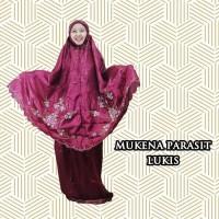mukena traveling parasut/parasit lukis sablon premium dewasa
