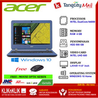 LAPTOP ACER ASPIRE A311-31 - INTEL DC N4000 4GB 500GB 11.6 WIN10 BLUE