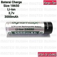 Baterai tipe 18650 3000mAh Dynamax 3,7v