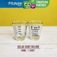 Gelas Shot - Sloki Whisky 45ml - Gelas Takar Beling - Measuring glass