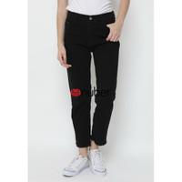 Celana Panjang Jeans Wanita Boyfriend Hitam Rumbay - Yarrow
