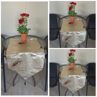 TABLE RUNNER WATERPROOF SHABBY / MOTIF EMBOSS GLOSSY KODE B