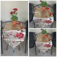 TABLE RUNNER WATERPROOF SHABBY / EMBOSS MOTIF GLOSSY IMPORT
