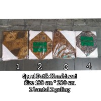 Sprei Batik Nomor 1 (180*200 cm) dengan 2 bantal dan 2 guling