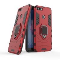 Huawei Y7 Prime 2018 Black Panther Slim Standing Ring Armor Case