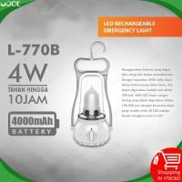 LED Lampu Emergency Rechargeable Luby 770B 4W Battery 4000mAH