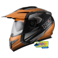 Helm KYT ENDURO #1 BLACK BUMBLE BEE GUNMETAL | FULLFACE | Double Visor