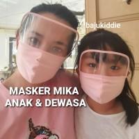 MASKER MIKA ANAK DEWASA FACE SHIELD KAIN MOTOR CORONA VIRUS COVID 19