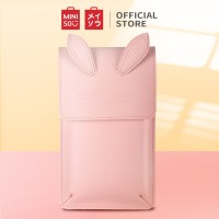 MINISO Pouch Handphone Kucing (Pink)