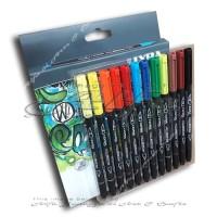 LYRA Aqua Brush Duo Set 12 Colours - Brush Pen - Stabilo Spidol 12c
