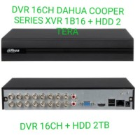 DVR 16 CH DAHUA COOPER SERIES + HDD 2 TERA