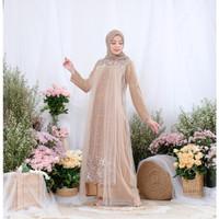 Gamis Wanita Muslim | Putiq Pearl Dress| Maxmara Import Brukat Mutiara