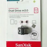 OTG SanDisk Micro USB 64GB SDDD3 TRANSPARAN ORIGINAL GARANSI RESMI