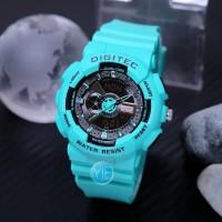 Jam Tangan Wanita Digitec 2063 ( DG 2063 T ) Double Time - Hijau