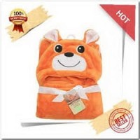 CARTER SELIMUT BAYI TOPI 3D BEAR ORANGE 76CM X 92CM