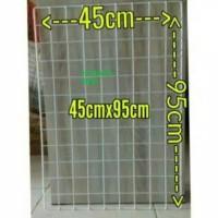 Jaring ram Dinding 45X95 CM Gantungan Kawat Hook Aksesoris