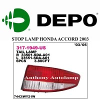 READY STOP LAMP HONDA ACCORD 2003 RH