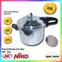 Niko Panci Presto Bahan Aluminium 8-12 Liter - NK8L,10L,12L