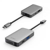 WIWU ALPHA A531HVP - 5-in-1 USB Type-C Multifunction Converter Adapter