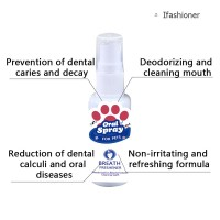 Pet Teeth Breath Cleaning Freshener Dog Dental Spray Care Cleaner