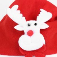 Topi Santa Claus Warna Merah Putih untuk Kostum Natal Anak / Dewasa