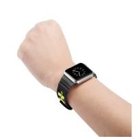 Strap Silikon Sport 2 Warna untuk Apple Watch 38mm 42mm