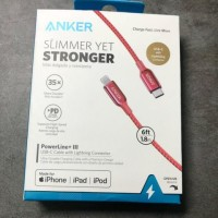 ANKER A8843 - PowerLine+ III - USB-C to Lightning Cable - 6ft (1.8M)