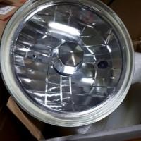 Head Lamp 7 inch - Lampu Bulat Depan Copotan H4 - Batok seal Beam