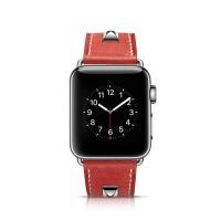 Strap Kulit Asli Rivet Casual untuk Apple Watch 38mm / 42mm